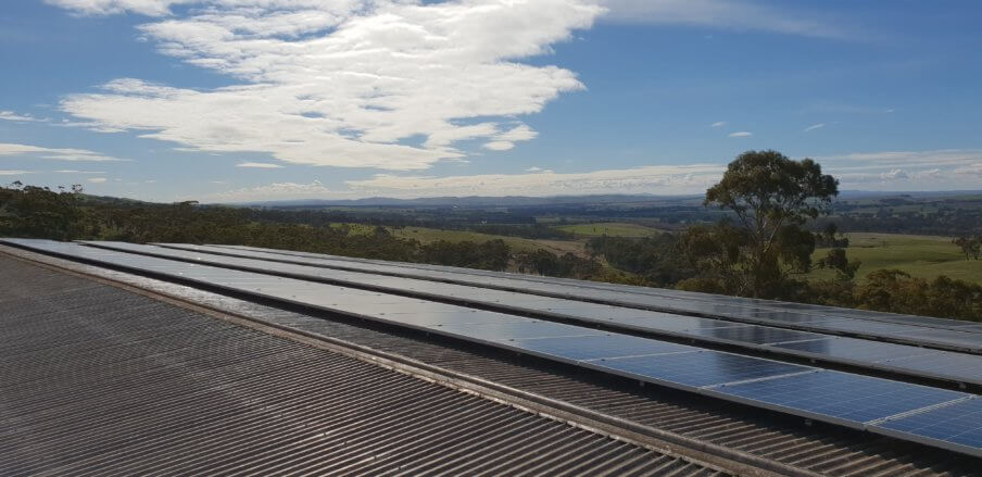 Paulett Wines solar panels